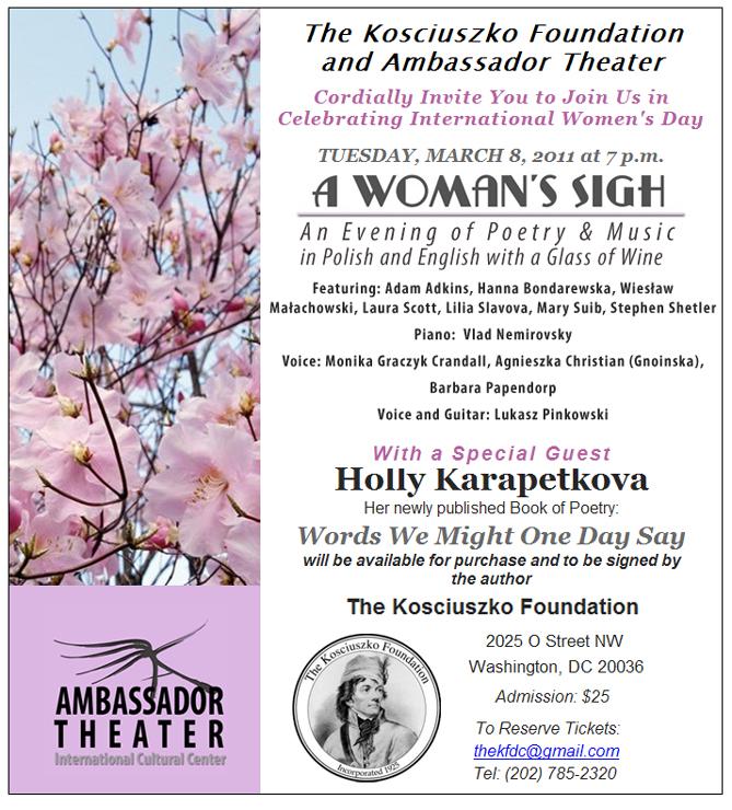 poetry amp music celebration of international women s day ambassador theater